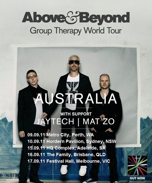 Above and Beyond Group Therapy Tour Australia 2011 Poster